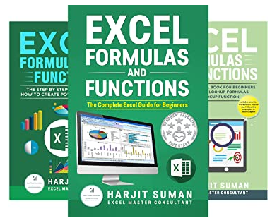 Excel Formulas and Functions book series written by Harjit Suman