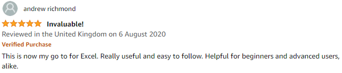 Amazon review of the Excel Formulas and Functions book series written by Harjit Suman