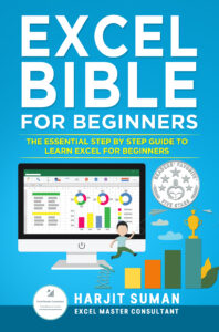 Excel Bible for Beginners book cover written by Harjit Suman