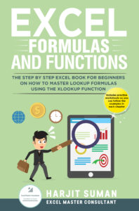 Book Cover: Excel Formulas and Functions: The Step by Step Excel Book for Beginners on how to Master Lookup Formulas using the XLOOKUP Function